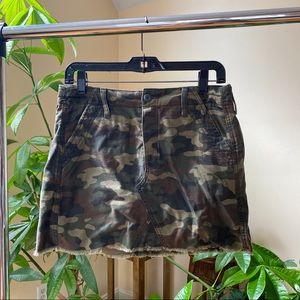 Camo Army Mini Jean Skirt